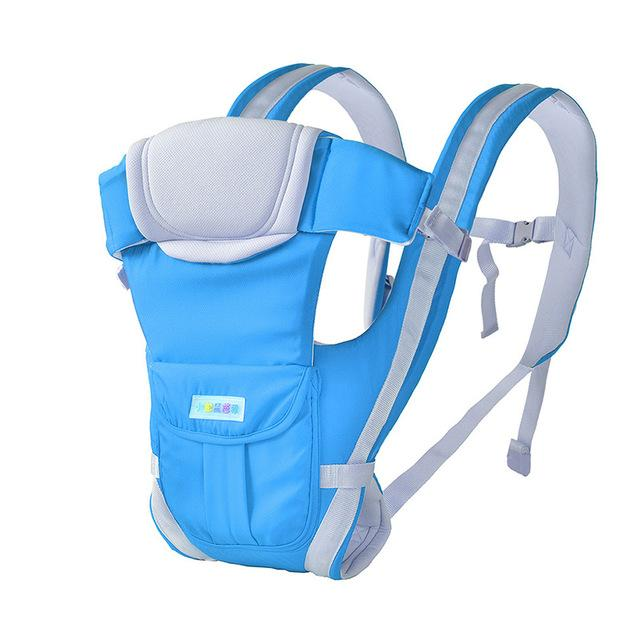 0-30 Months Breathable Front Facing Baby Carrier 4 in 1 Infant Comfortable Sling Backpack Baby Kangaroo - EM