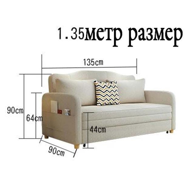 Multifunctional sofa bed living room double simple modern storage small apartment cloth folding bed - EM
