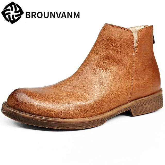 Big size men leather Martin boots, male tide shoes, British Chelsea boots, retro short boots, high leather shoes,  men's shoes