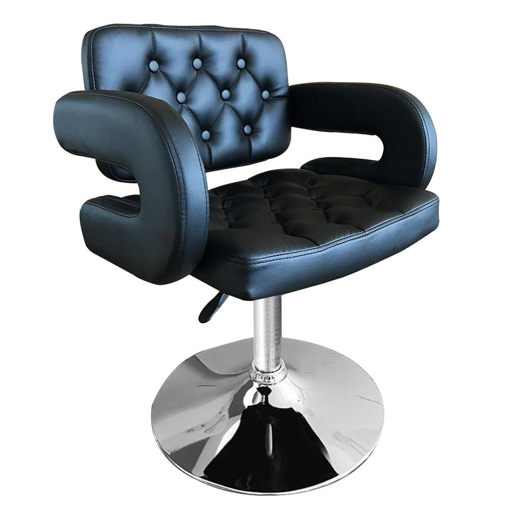 Shellhard Adjustable Barber Chair Leather Styling Salon Barber Chair Beauty Equipment Salon Furniture Black/White
