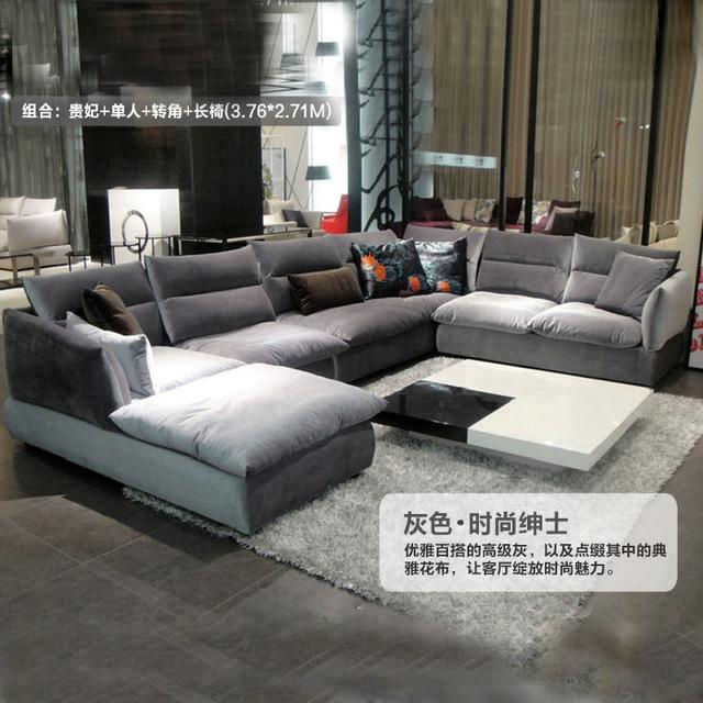 Simple and modern fabric sofa combination living room furniture washable - EM