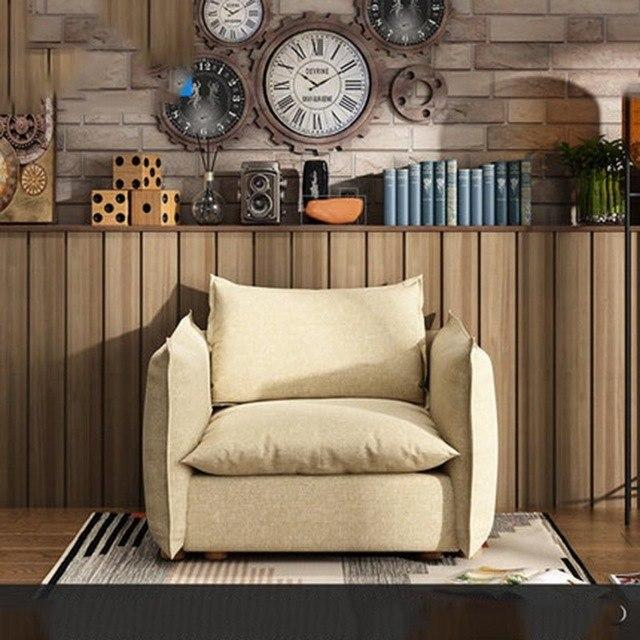 Nordic fabric  living room combination of modern minimalist washable corner sofa - EM