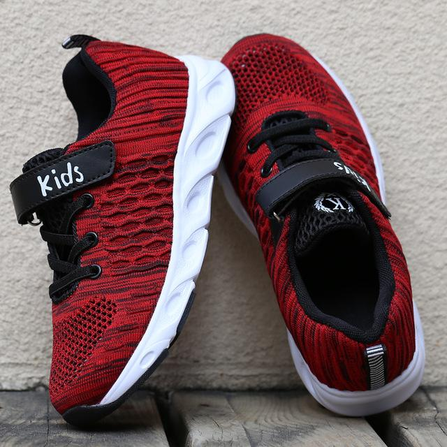 ULKNN Mesh Breathable shoes Student Trainer Footwear chaussure enfant Boys Sneaker For Kids Shoes Children Sport Running Shoes - EM