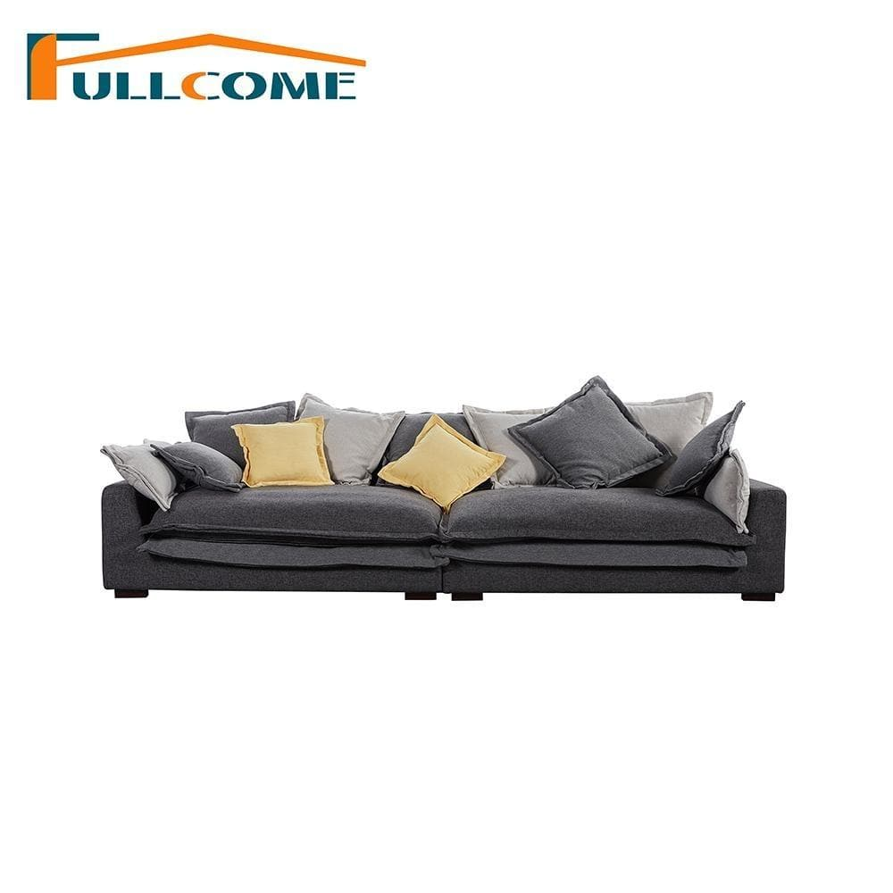 Luxury Home Furniture Modern Fabric Scandinavian Sofa Living Room Italian Corner Sectional Feather Sofa Stool - EM