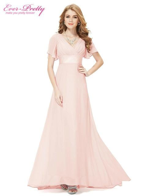 Evening Dresses EP09890 Padded Trailing Flutter Sleeve Long Women Gown 2018 New Chiffon Summer Style Special Occasion Dresses