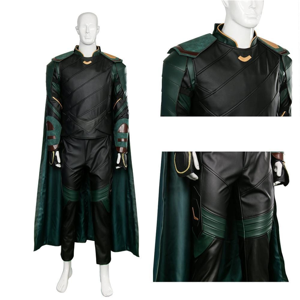THOR:Ragnarok Loki Cosplay Costume for Adult Men Movie The Thor 3 Party Superhero Clothes Outfit Adult Men Halloween Full Set - EM