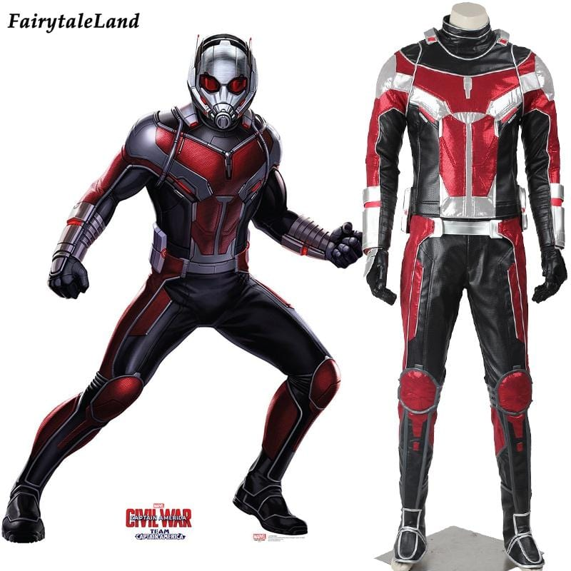 Captain America Civil War Ant man cosplay costume adult Halloween costumes for men Superhero Ant-man Costume Ant-man Suit - EM