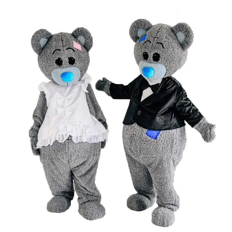 2017 New Gray Bear Mascot Costume    Halloween Cosplay&Funny bear Costume    Adult Size - EM