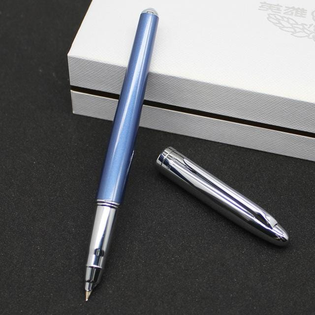 Hero Silver Clip Fountain Pen 0.5mm High-end Pink Blue Black 10k Gold Pens The Best Gift Choice for Women with a Gift Box