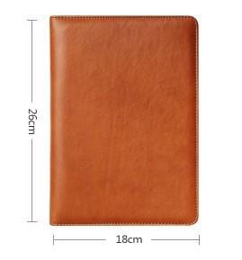 A5 2018 Daily Planner Schedule Notebook Diary Zipper Leather Card Pen Holder Pad Padfolio  large capacity