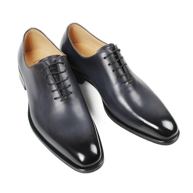 Vikeduo 2018 Handmade Designer Fashion Luxury Grey Wedding Male Oxford Shoe Calfskin Genuine Leather Patina Men Dress Shoes