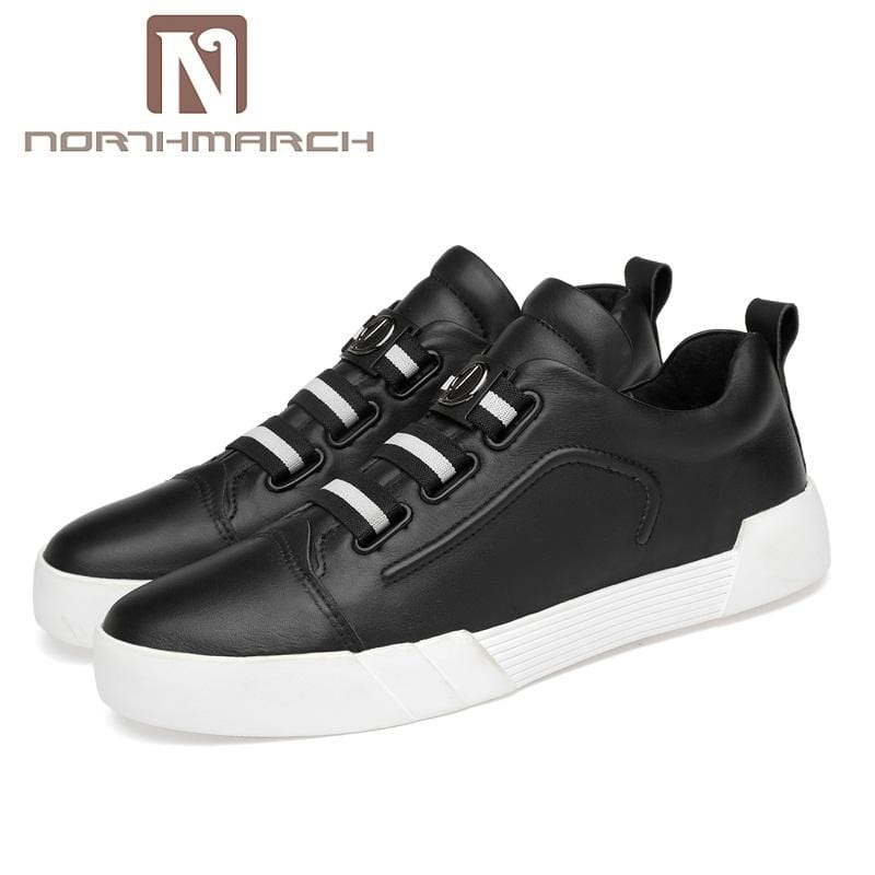 NORTHMARCH Hot Sale Man Shoes Leather Genuine Breathable Mens Sneaker Luxury Brand Mens Casual Shoe Chaussure Sport Homme