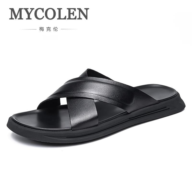 MYCOLEN 2018 Brand Men Summer Cool Water Flip Flops Male High Quality Beach Flat Slippers Fashion Man Casual Shoes Scarpe Uomo