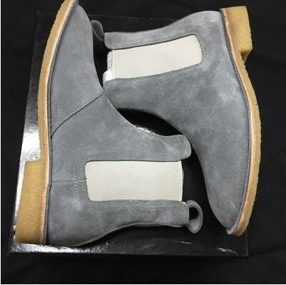 New Genuine Leather Suede Men Ankle Booties Slip-on Martin Boots Casual Flats Shoes Cool Street Style Motorcycle Boots Shoes