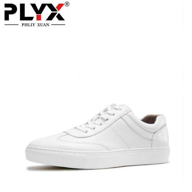 PHLIY XUAN British Retro Casual Male Shoes 100% Handmade White Mens Loafers Genuine Leather Chaussure Homme De Marque