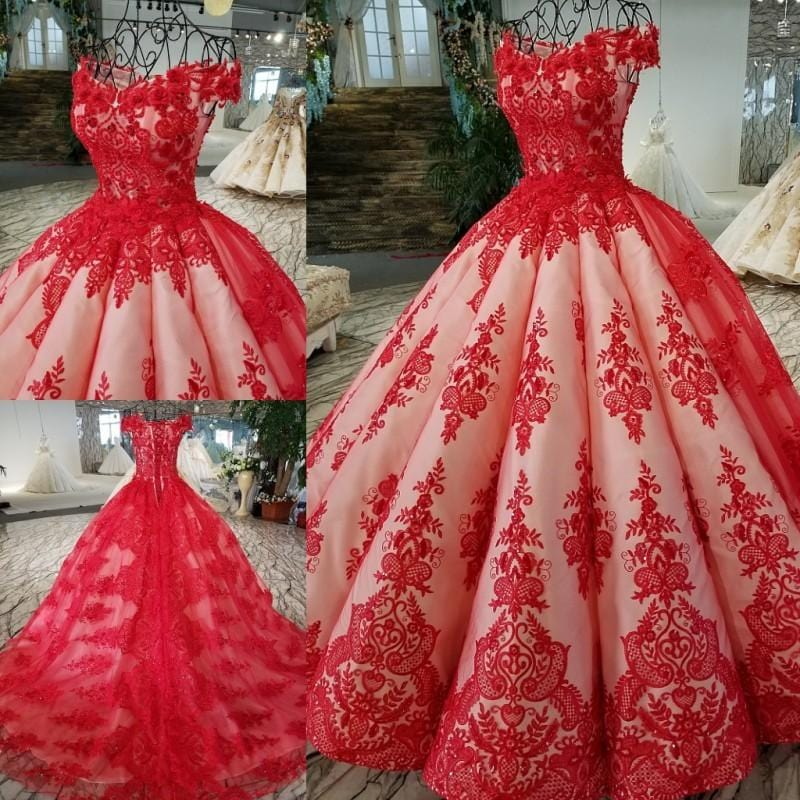 51ecb6784f Luxury real Red Quinceanera Dress Ball Gowns 2018 Vestidos De 15 Anos  Pageant Beading Crystal Debutante Gowns Dress