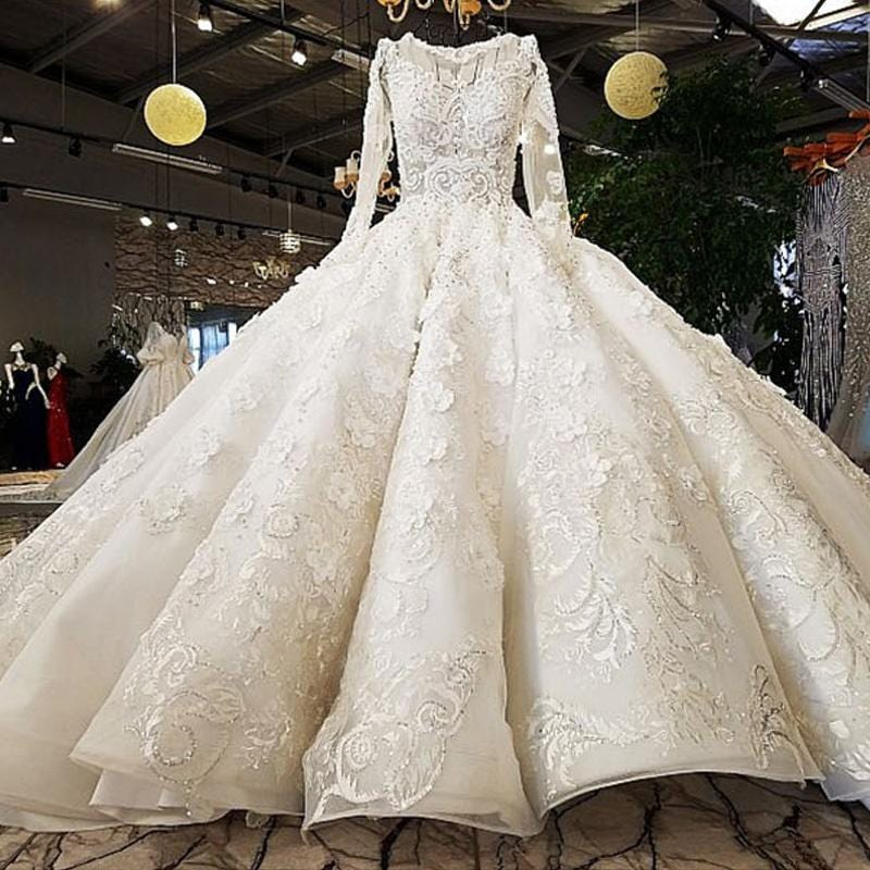Luxury Diamond Sequined Sparkly Sexy Wedding Dresses 2018 High-end Custom Fashion Vintage Bridal Gown