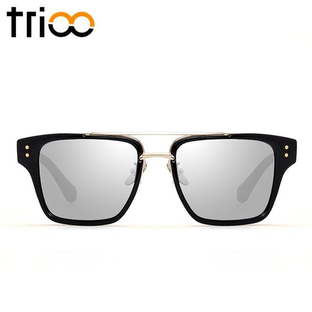 TRIOO Cool Square Sunglasses Men Unisex Luxury Brand Designer Oculos Male High Quality Oculos Lunette Color Lens Sun Glasses - EM