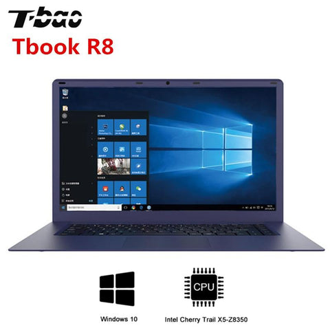 T-Bao Tbook R8 Laptop 15.6inch Windows 10 Intel Cherry Trail X5-Z8350 CPU Quad Core Computer 4GB DDR3L 64GB EMMC Notebook - EM