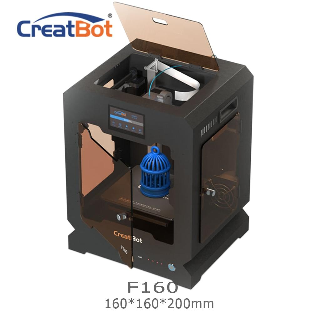 FREE SHIPPING F160 Single Extruder 160*160*200mm Creatbot 3d printer Metal Frame All closed heated room 1.75mm ABS Printing - EM