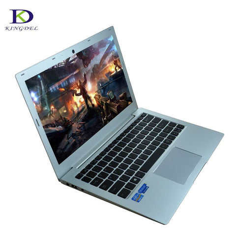 "Newest Type-c 13.3""inch UltraSlim Laptop Computer 7th Gen i7 7500U Backlit Keyboard SD DDR4 Netbook with 8G RAM 128G SSD 1TB HDD"