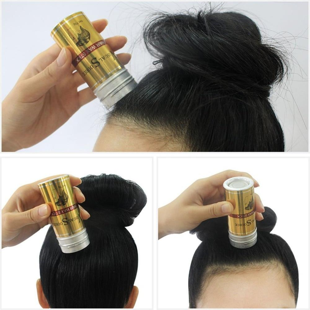 Men Women Hair Styling Pomade Stick Rapid Fixed Repair Fashion Modeling Natural Not Oily Hair Wax Hair Finishing - EM