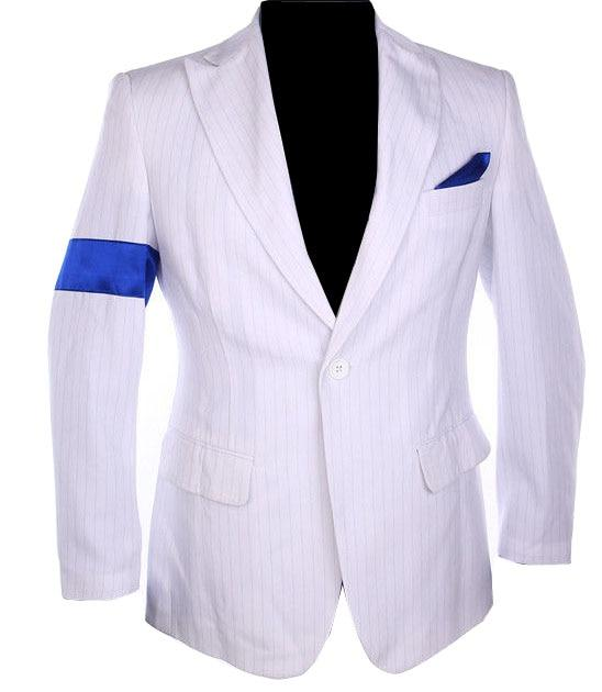 Classic MJ Michael Jackson Smooth Criminal Stripe Suit Jacket Blazer Full Set For Fans Party Show Imitation Customize Gift - EM
