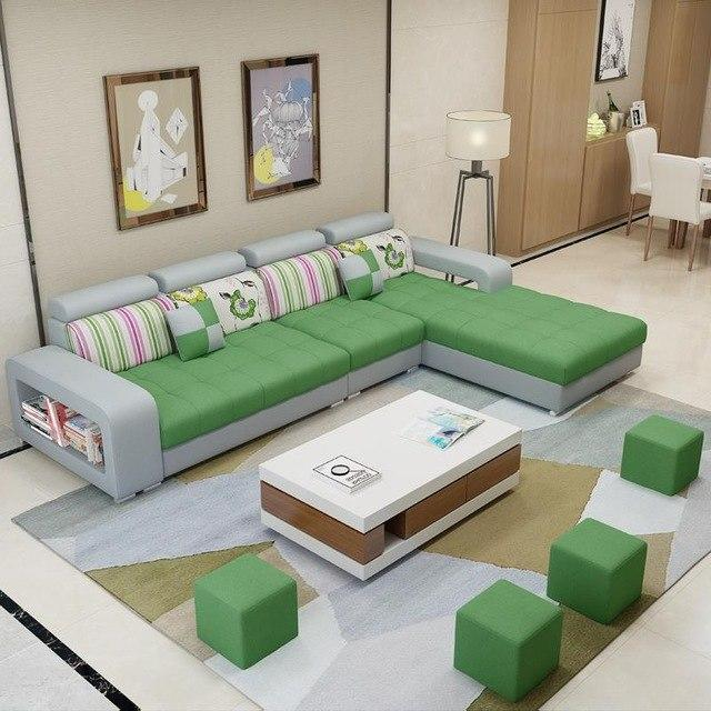 Meuble Maison Home Couch Mobili Per La Casa Meble Moderna Pouf Moderne Mueble De Sala Set Living Room Furniture Mobilya Sofa - EM