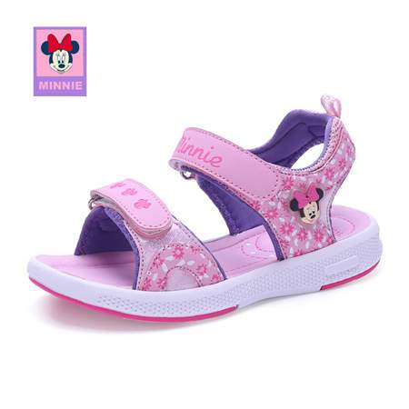 Disney 2018 Girl Minnie Sandals Fashion Summer Flops Slip Wear-resistant Baby Casual Slippers Girls Sandal Eur Size 26-37 - EM