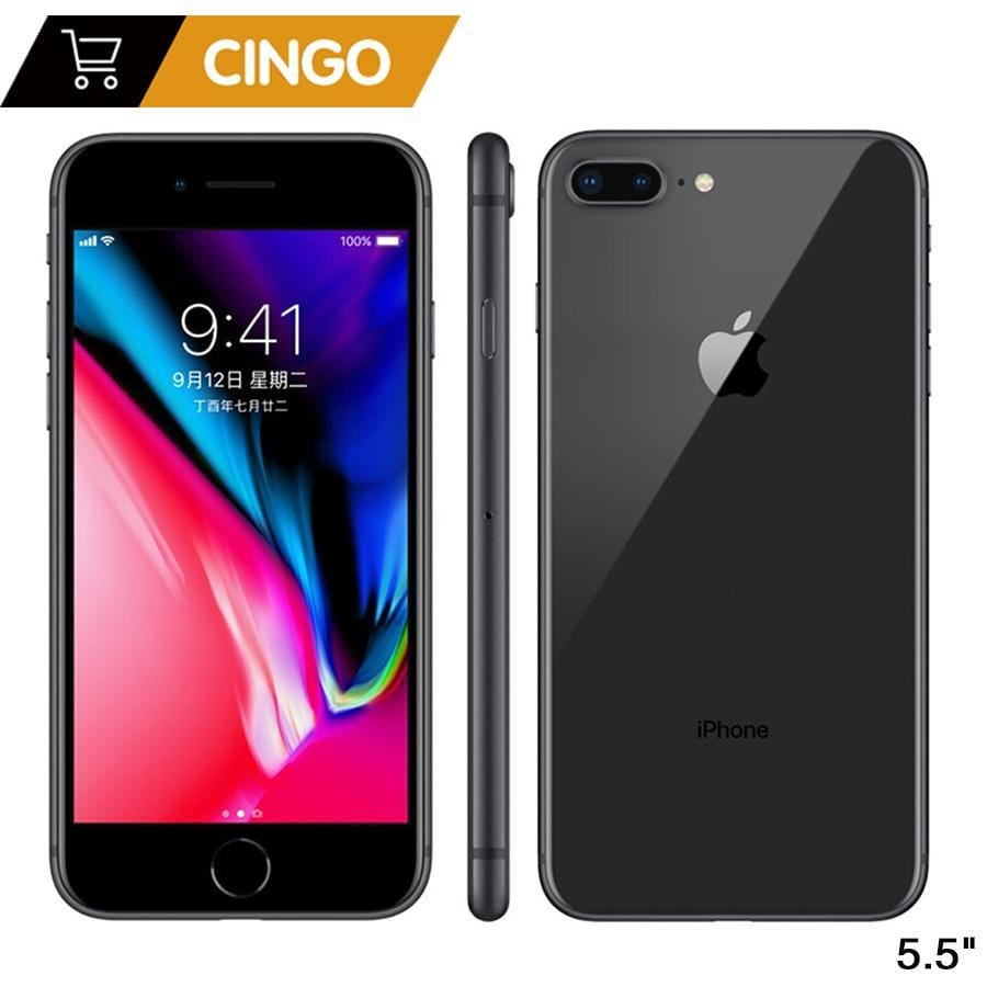 Original Apple iphone 8 Plus Hexa Core iOS 3GB RAM 64-256GB ROM 5.5 inch 12MP Fingerprint 2691mAh LTE Mobile Phone - EM