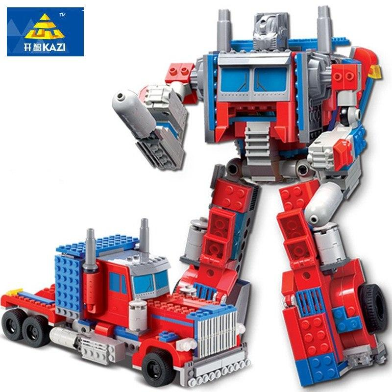 Educational Toys For Children Transformation Robot Building Blocks Toy Gifts Toys Compatible Jouet Enfant Legoings 384pcs - EM
