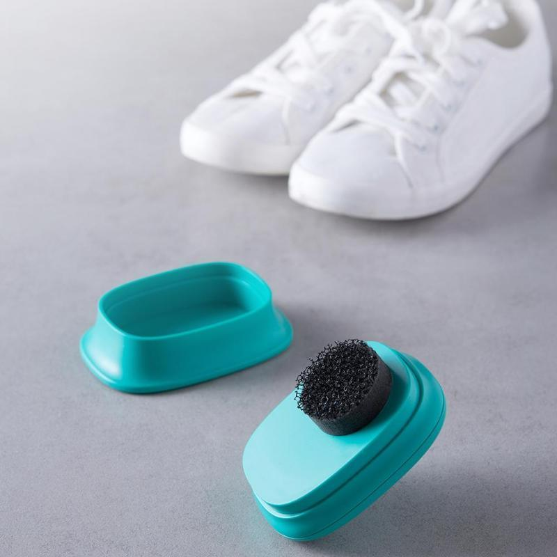 Quick Shoes Brush Cleaner Leather Polishing Cleaning liquid wax Self Adhesive Sponge polisher Shoe Boot Shine Shoes Brush Clean - EM