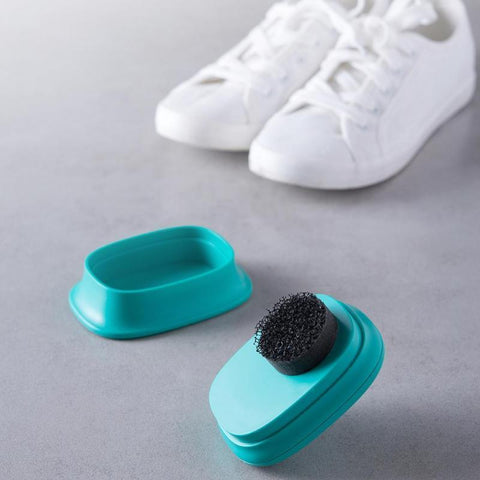 Quick Shoes Brush Cleaner Leather Polishing Cleaning liquid wax Self Adhesive Sponge polisher Shoe Boot Shine Shoes Brush Clean