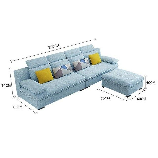 Home Sectional Para Mobili Per La Casa Puff Asiento Pouf Moderne De Sala Mobilya Set Living Room Furniture Mueble Sofa - EM