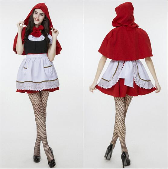 High Quality Little Red Riding Hood Costume for Women/girl Fancy Adult/kids Hallowen Cosplay Fantasia Feminina Plus Size XXS-2XL - EM