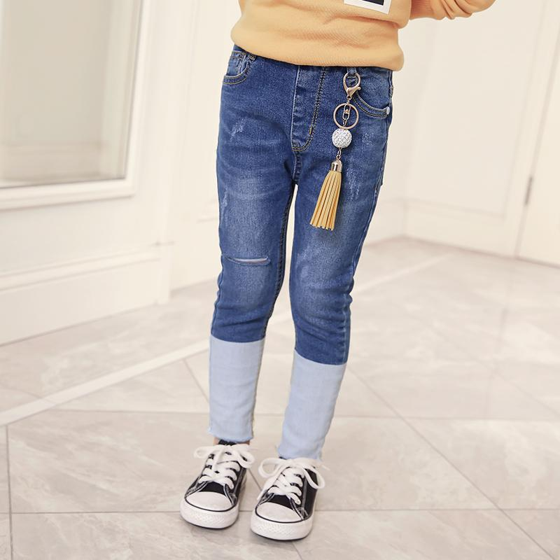 Jeans For Girls 2 3 4 5 6 7 8 9 10 Years Toddler Jeans Kids Clothes 2018 Autumn Denim Pant Back To School Jean Enfant Fille - EM