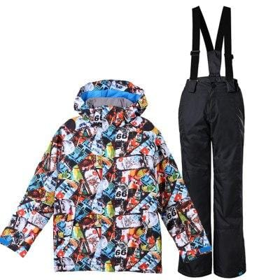 c5a781996 GSOU SNOW Brand Boys Ski Jacket Pant Skiing Snowboard Suit Windproof ...