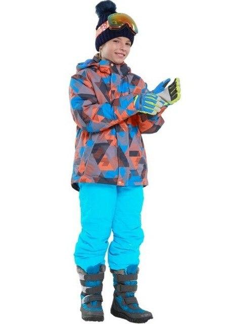 2018 Kids Boys Ski Suit Winter Thicken Children Outdoor Sport Suit for Boy Snowboard Ski Set Jacket + Pants Windproof Waterproof - EM