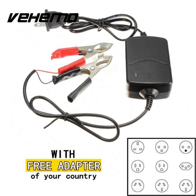 Vehemo Portable Motorcycle Car ATV Sealed Lead Acid Rechargeable Battery Charger - EM