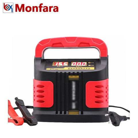 12V 24V LCD Car Motorcycle Boat Lead Acid Storage Battery Charger Sealed AGM GEL Maintenance-Free Auto 12 Volt 24 V 120AH 100AH - EM