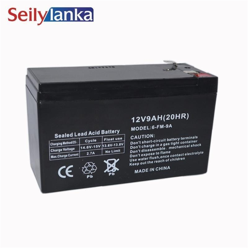 12V 9.0AH Battery Sealed Storage Batteries Lead Acid Rechargeable for sound night light monitor - EM