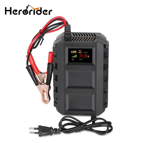 110V-240V Intelligent 12V 20A Automobile Car Motorcycle Smart Sealed Lead Acid Battery Charger LED Digital Display EU/US/UK/AU - EM