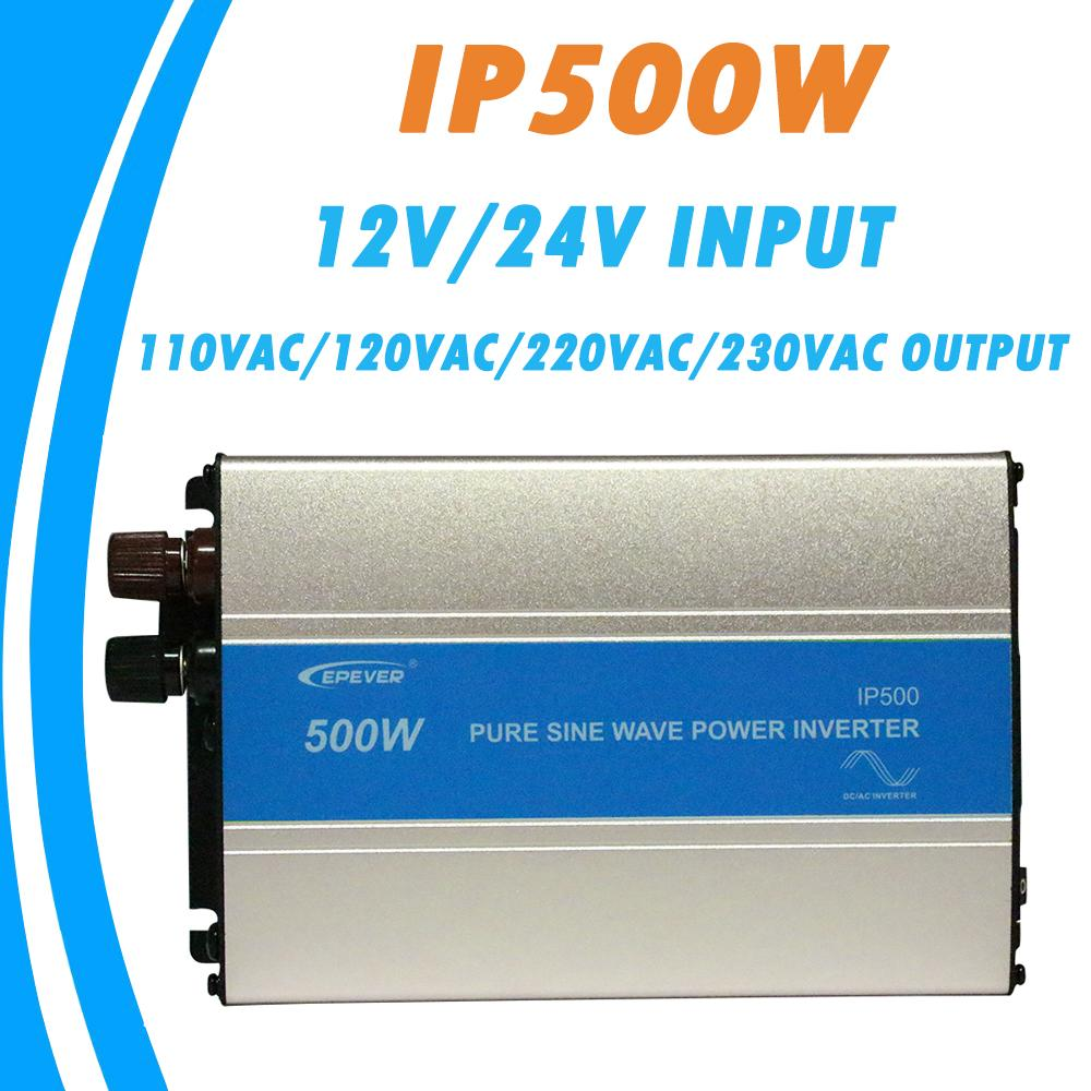 EPever 500W Pure Sine Wave Inverter 12V/24V Input  110VAC 120VAC 220VAC 230VAC Output 50HZ 60HZ High Efficiency Converter IPower - EM