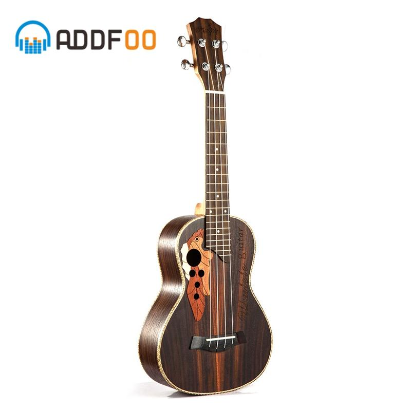 ADDFOO 23 Inch Ukulele 4 String Mini Hawaii Guitar Rosewood Body Uku Ukelele Soprano Concert Musical Instruments For Beginner - EM