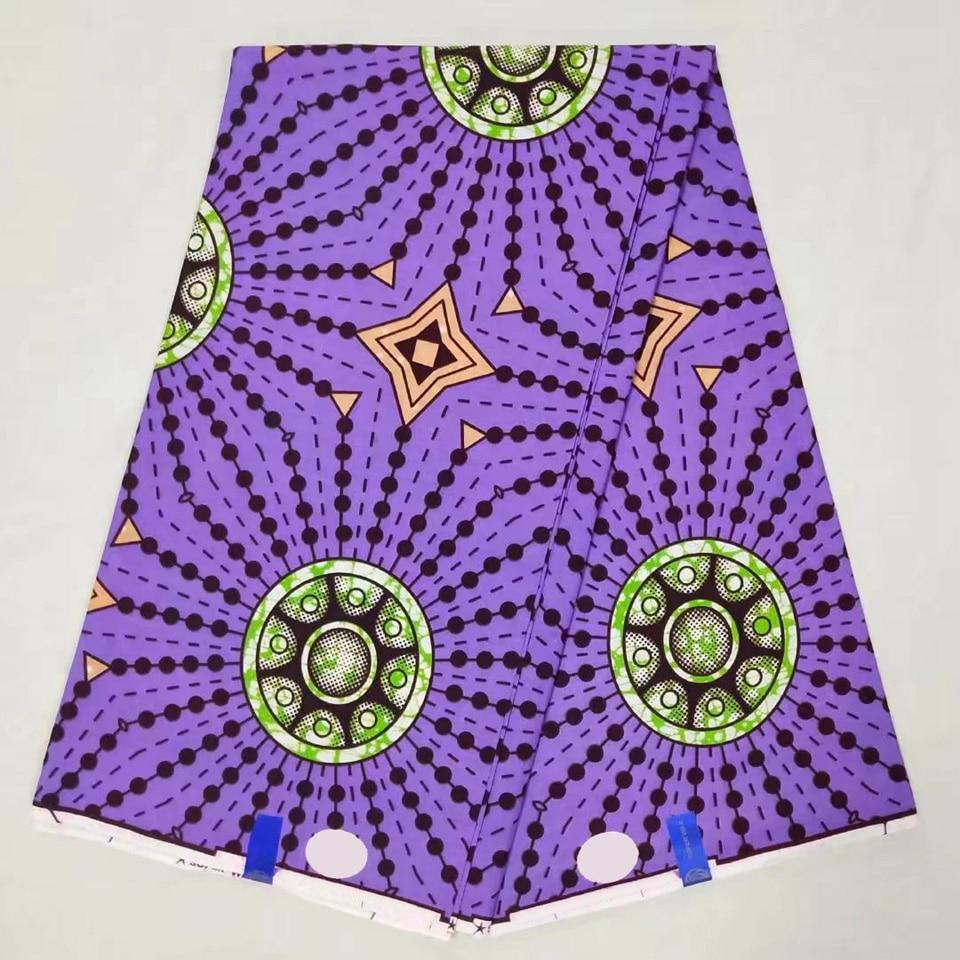 NAW-233 New Designs Super African Batik Wax Fabric,Purple Ankara Fabric For Sewing Dresses/ Kitenge/Tissues Africain/Pagnes Lapa - EM