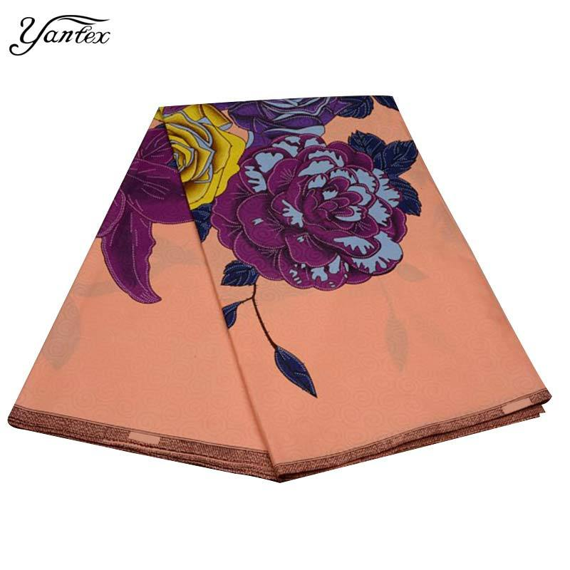 YANTEX New Hot Selling African Print Fabric Java Print Pagne African Super Wax Hollandais Ankara Fabric 6 Yards/Piece Tissu - EM