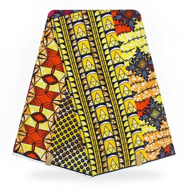 New Arrival Colorful Flower style ankara pagne tissu africain real wax print fabric for wedding fabric H180624 - EM
