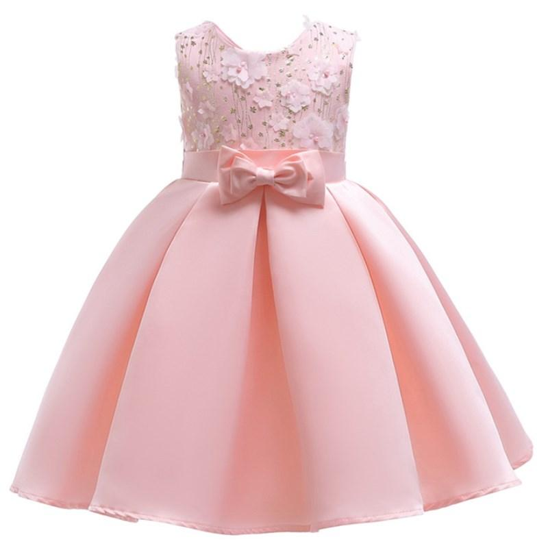 Baby Girl Princess Dresses Embroidery Kids Clothes Wedding Dress For  Birthday Party Kids Toddler Clothing Children Custumes
