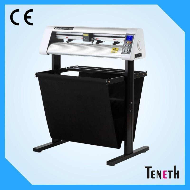 High Precision Sticker Cutting Plotter with red laser sensor eye  , Industrial Vinyl Cutter Easy Operation - EM
