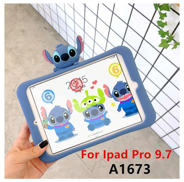 Silica gel case Stitch bracket Tablet Case For Ipad 2 3 4 air 1 2 mini 1 2 3 4 for new Ipad 2017 pro 9.7 2018 A1893 - EM